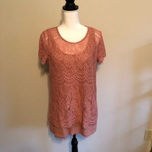 LACE TOP WITH MATCHING TANK